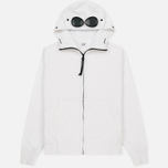 Мужская толстовка C.P. Company Diagonal Fleece Goggle Zip Hoodie Optic White фото- 0