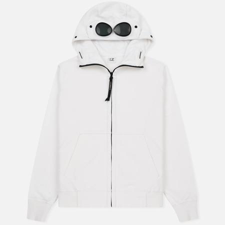 Мужская толстовка C.P. Company Diagonal Fleece Goggle Zip Hoodie Optic White