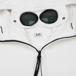 Мужская толстовка C.P. Company Diagonal Fleece Goggle Zip Hoodie Optic White фото- 2