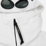 Мужская толстовка C.P. Company Diagonal Fleece Goggle Zip Hoodie Optic White фото- 1