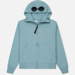 Мужская толстовка C.P. Company Diagonal Fleece Goggle Zip Hoodie Powder фото- 0