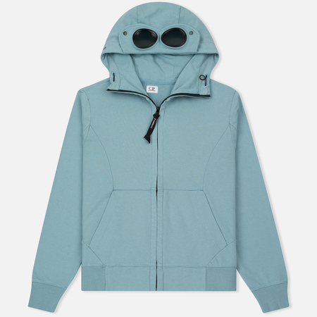 Мужская толстовка C.P. Company Diagonal Fleece Goggle Zip Hoodie Powder