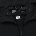 Мужская толстовка C.P. Company Diagonal Fleece Goggle Zip Hoodie Total Eclipse фото- 2
