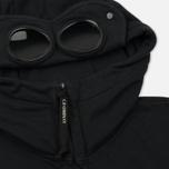 Мужская толстовка C.P. Company Diagonal Fleece Goggle Zip Hoodie Total Eclipse фото- 1