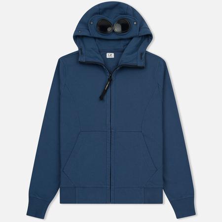 Мужская толстовка C.P. Company Diagonal Fleece Goggle Zip Hoodie True Navy