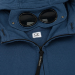 Мужская толстовка C.P. Company Diagonal Fleece Goggle Zip Hoodie True Navy фото- 2