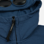 Мужская толстовка C.P. Company Diagonal Fleece Goggle Zip Hoodie True Navy фото- 1