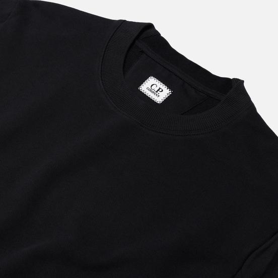 Мужская толстовка C.P. Company Diagonal Fleece Lens Crew Black
