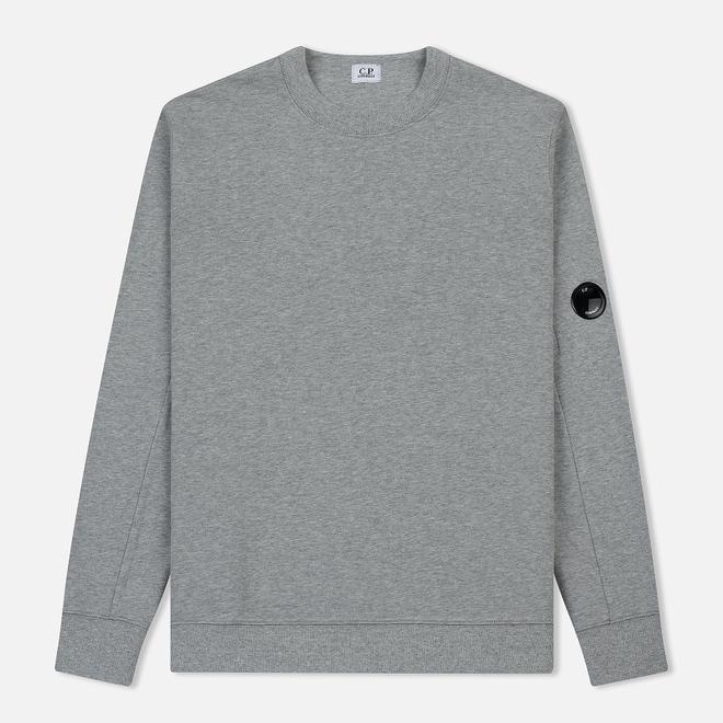 Мужская толстовка C.P. Company Diagonal Fleece Lens Crew Grey Melange