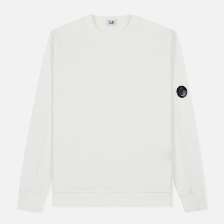 Мужская толстовка C.P. Company Diagonal Fleece Lens Crew White