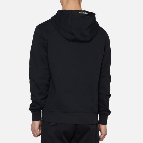 Мужская толстовка C.P. Company Diagonal Fleece Lens Hooded Black