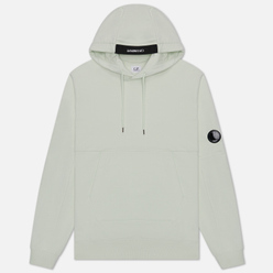 Мужская толстовка C.P. Company Diagonal Fleece Lens Hooded Frost