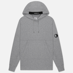 Мужская толстовка C.P. Company Diagonal Fleece Lens Hooded Grey Melange