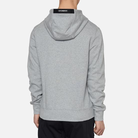 Мужская толстовка C.P. Company Diagonal Fleece Lens Hooded Grey Melange
