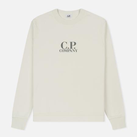 Мужская толстовка C.P. Company Diagonal Fleece Logo Crew Neck Tapioca
