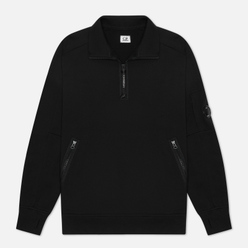 Мужская толстовка C.P. Company Diagonal Fleece Quarter Zip Lens Black