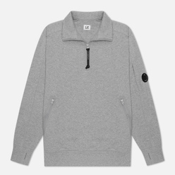 Мужская толстовка C.P. Company Diagonal Fleece Quarter Zip Lens Grey Melange
