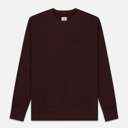 Мужская толстовка C.P. Company Diagonal Raised Fleece Chest Logo Bitter Chocolate