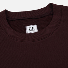 Мужская толстовка C.P. Company Diagonal Raised Fleece Chest Logo Bitter Chocolate фото- 1