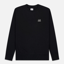 Мужская толстовка C.P. Company Diagonal Raised Fleece Chest Logo Black фото- 0