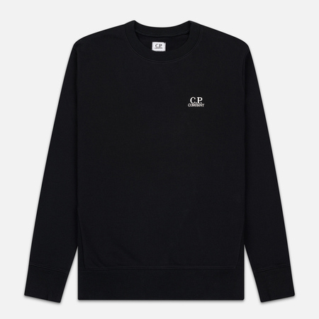 Мужская толстовка C.P. Company Diagonal Raised Fleece Chest Logo Black