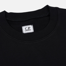 Мужская толстовка C.P. Company Diagonal Raised Fleece Chest Logo Black фото- 1