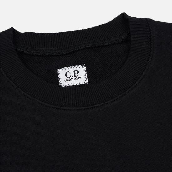 Мужская толстовка C.P. Company Diagonal Raised Fleece Chest Logo Black