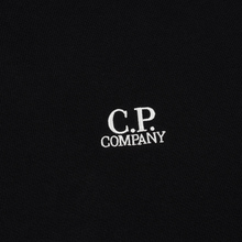 Мужская толстовка C.P. Company Diagonal Raised Fleece Chest Logo Black фото- 2