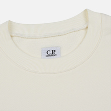 Мужская толстовка C.P. Company Diagonal Raised Fleece Chest Logo Gauze White фото- 1