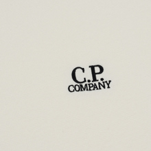Мужская толстовка C.P. Company Diagonal Raised Fleece Chest Logo Gauze White фото- 2