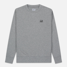 Мужская толстовка C.P. Company Diagonal Raised Fleece Chest Logo Grey Melange фото- 0