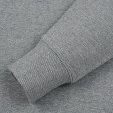Мужская толстовка C.P. Company Diagonal Raised Fleece Chest Logo Grey Melange фото- 3