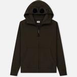 Мужская толстовка C.P. Company Diagonal Raised Fleece Goggle Full Zip Cloudburst фото- 0