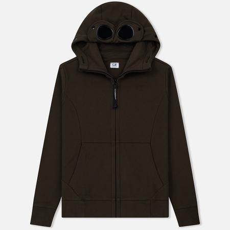 Мужская толстовка C.P. Company Diagonal Raised Fleece Goggle Full Zip Cloudburst