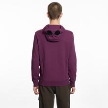 Мужская толстовка C.P. Company Diagonal Raised Fleece Goggle Full Zip Total Eclipse фото- 6