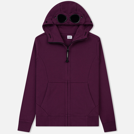 Мужская толстовка C.P. Company Diagonal Raised Fleece Goggle Full Zip Gloxinia Purple
