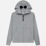 Мужская толстовка C.P. Company Diagonal Raised Fleece Goggle Full Zip Grey Melange фото- 0