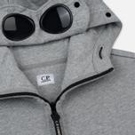 Мужская толстовка C.P. Company Diagonal Raised Fleece Goggle Full Zip Grey Melange фото- 1