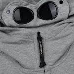 Мужская толстовка C.P. Company Diagonal Raised Fleece Goggle Full Zip Grey Melange фото- 2