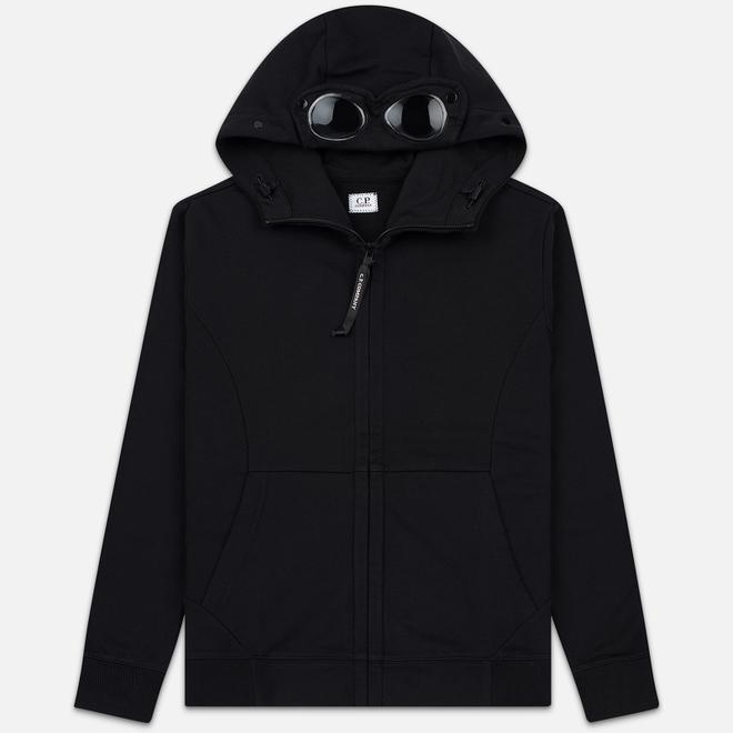 Мужская толстовка C.P. Company Diagonal Raised Fleece Goggle Full Zip Hoodie Black