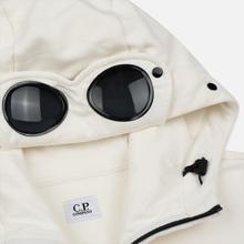Мужская толстовка C.P. Company Diagonal Raised Fleece Goggle Full Zip Hoodie Gauze White фото- 1