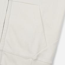 Мужская толстовка C.P. Company Diagonal Raised Fleece Goggle Full Zip Hoodie Gauze White фото- 3