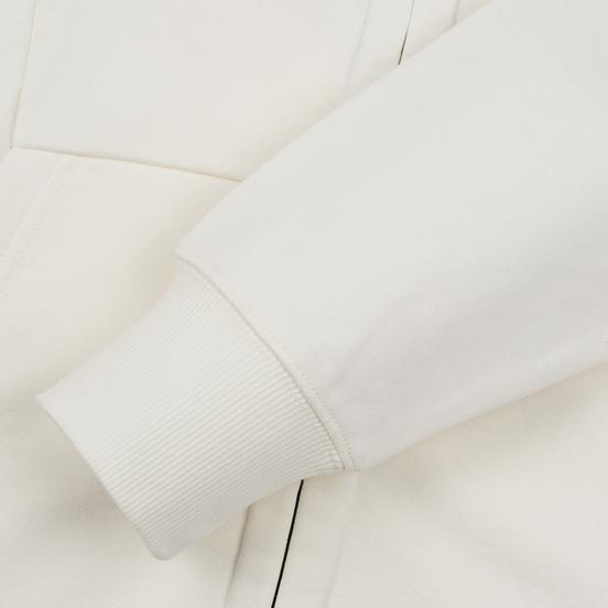 Мужская толстовка C.P. Company Diagonal Raised Fleece Goggle Full Zip Hoodie Gauze White