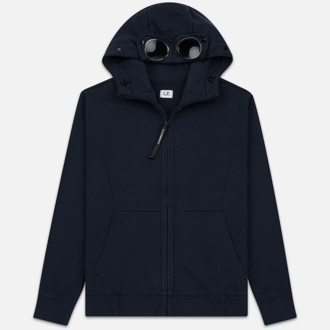 Мужская толстовка C.P. Company Diagonal Raised Fleece Goggle Full Zip Hoodie Total Eclipse