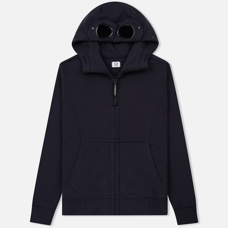 Мужская толстовка C.P. Company Diagonal Raised Fleece Goggle Full Zip Total Eclipse