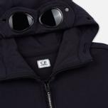 Мужская толстовка C.P. Company Diagonal Raised Fleece Goggle Full Zip Total Eclipse фото- 1