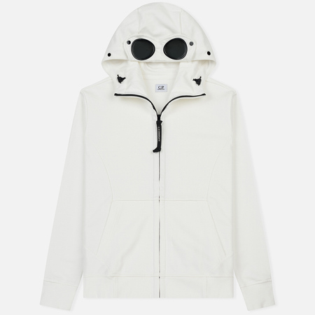 Мужская толстовка C.P. Company Diagonal Fleece Goggle White