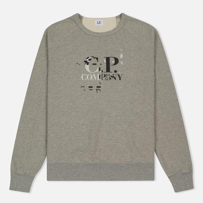Мужская толстовка C.P. Company Digital Print Logo Grey Melange