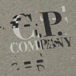 Мужская толстовка C.P. Company Digital Print Logo Grey Melange фото- 2