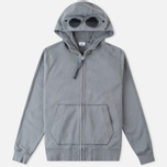 C.P. Company Felpa Aperta Goggle Men's Hoodie Grey photo- 0
